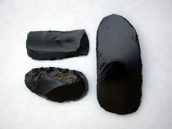 Authentic Maya Obsidian Tools